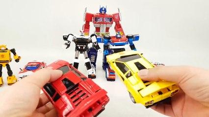 Transformers Masterpiece Optimus Prime Bumblebee Convoy Truck Police Racing Car Vehicle Robot Car Toys