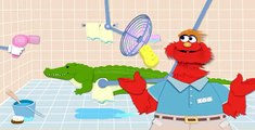 Sesame Street: Murray Cleans Up - Zoo Animal Cleaning - PBS Kids Games