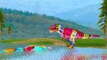 Los colores de Dinosaurios Corto de Acción en Películas para Niños | 3D Dinosaurios Dedo de la Familia Rimas | Niño