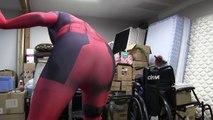 Spiderman, Batman & Deadpool farting! Superheroes in Real Life:)
