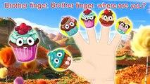 Mega Cake Pop crying for Ice Cream finger family nursery rhymes | Cake Pop Ice cream Funny