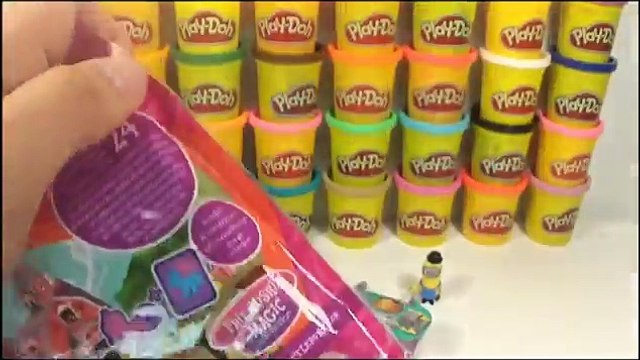 Giant Play Doh Smarties Surprise Eggs Shopkins Minions My Little Pony Playmobil Blind Bags
