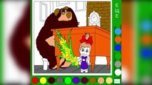 Masha Coloring Page! Fun Masha and the Bear Speed Coloring Activity for Kids Toddlers Chil