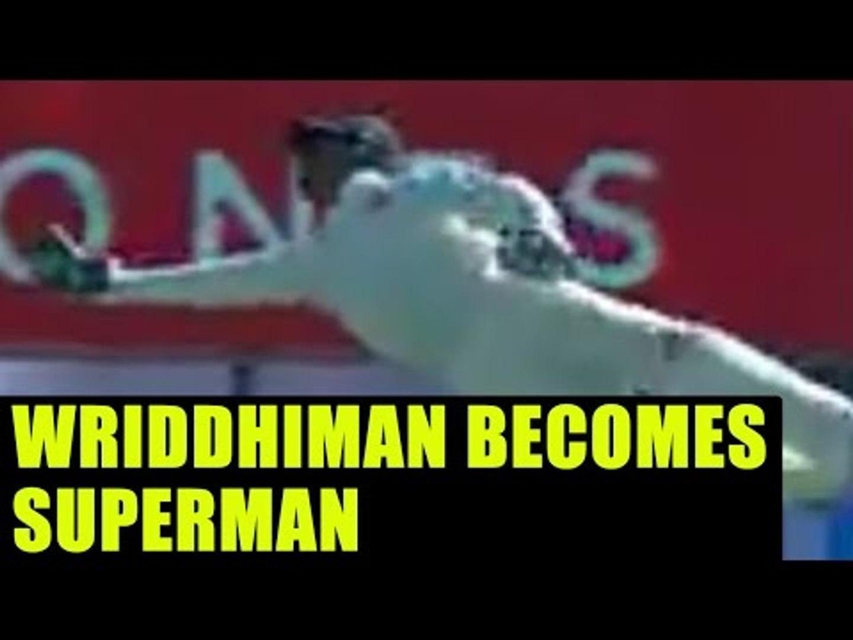 India vs Australia: Rohit Sharma reacts on Wriddhiman Saha's catch; Twitter praised | Oneindia