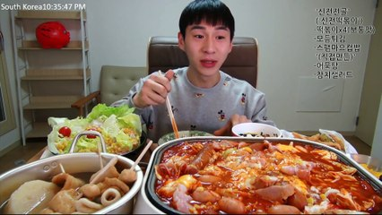 BANZZ▼ Having stew made of Sinjeon Tteokbokki! Sinjeon Stew Mukbang! 밴쯔▼ 신전떡볶이로 전골 만들어먹기! 신전전골 먹방!