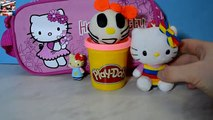 Play-Doh Hello Kitty and more Hello Kitty. Create Hello Kitty with Play-Doh. Plasticine Hello Kitty!