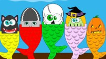 five little ghosts | scary rhymes | kids songs | nursery rhymes | halloween family