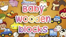 Baby blocks Puzzles - Wooden Blocks Alphabet, Number, Animals and Fruits for Toddlers