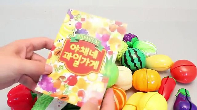 Toy Velcro Cutting Food Fruits and Vegetables Cooking Kitchen Playset 과일 야채 소꿉놀이와 뽀로로, 타요, 폴리 장난감