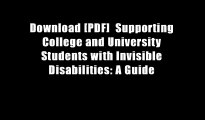Download [PDF]  Supporting College and University Students with Invisible Disabilities: A Guide