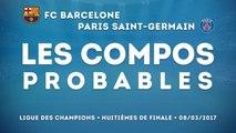 Barcelone-PSG : les compositions probables
