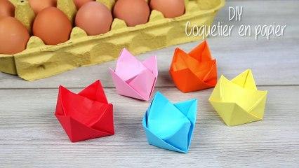 Coquetier en origami DIY