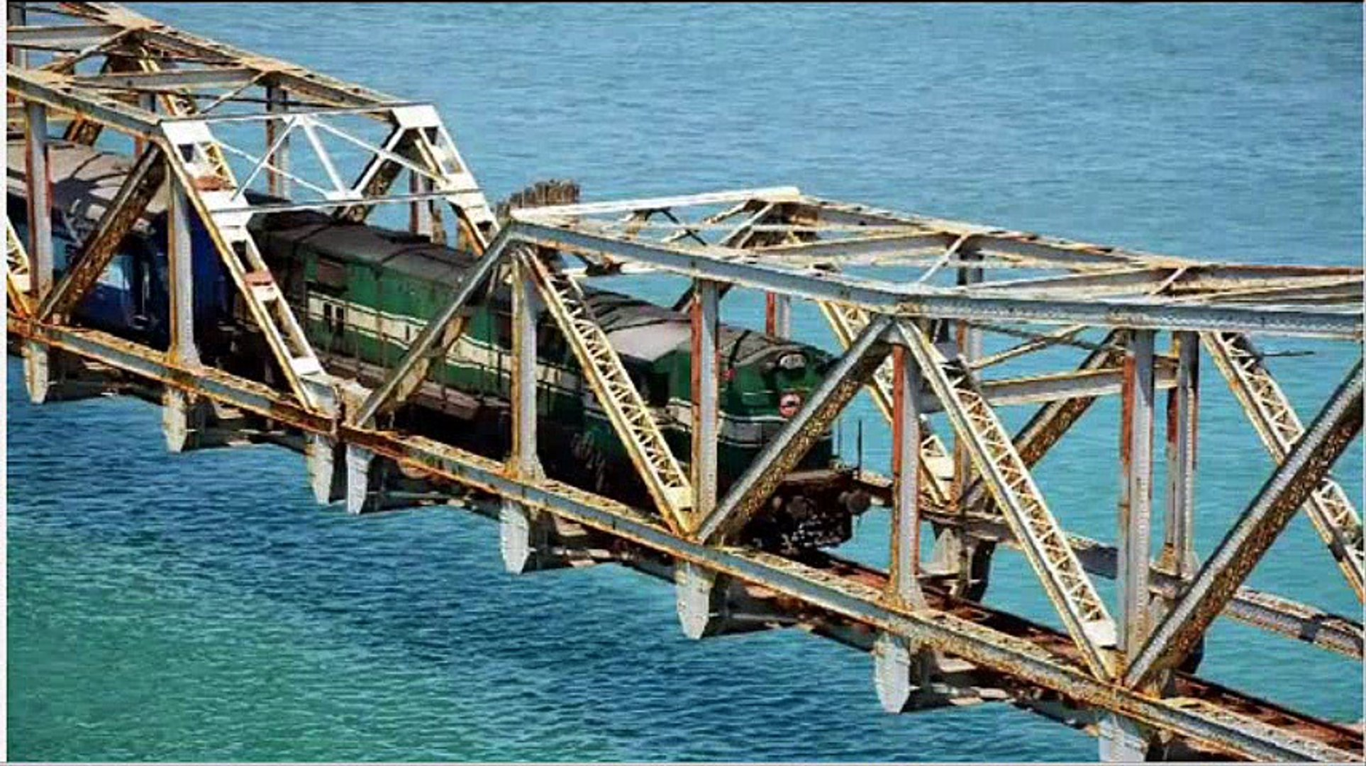 Pamban Bridge - A Railway Bridge,Rameswaram, Tamil Nadu, India.