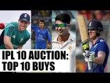IPL 10 Auction: Top 10 buys   Oneindia News