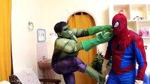 Superhéroe de la Diversión en la Vida Real   Spiderman, Capitán América Trotar En el Parque   Hulk Broma   Spid