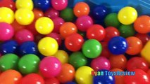 SURPRISE EGGS HUNT IN A KIDDIE POOL + Giant Egg Opening Golden Surprise Egg Ball Pit Froze