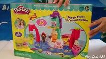 Play Doh Magic Swirl Ice Cream Shoppe Hasbro Playset Toys Review Play-Doh Magic Swirl Mach
