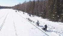 Mushers Dash Across Ice in Iditarod Ceremonial Start
