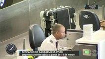 Companhias aéreas vão poder cobrar pelas malas despachadas a partir de 14 de março