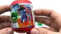 3 Disney Frozen Surprise Capsules and 2 Marvel Avengers Capsules Deluxe Mini Figurines