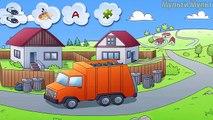 De dibujos animados Juego Increíble Coches y Camiones | Camiones de Bomberos | Mezclador de Hormigón