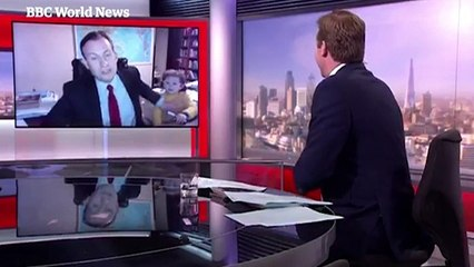 BBC interviewee interrupted by his children live on air – video - Media - The Guardian