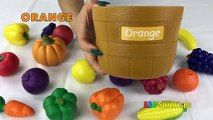 Fruits and Vegetables Toy Playset Learn Colors and Spelling Food Words Shopkins Egg Surprise Toys