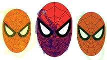 SPIDERMAN COLORS White Yellow Green Blue & Black Spiderman Disney Pixar Cars Nursery Rhyme
