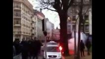 12/13 CDF Metz - Nice Metz + Lyon hooligans VS Nice + Nancy