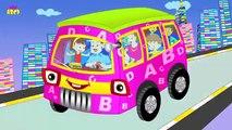Колеса на автобусе идут круглый и круглые, английский потешки для детей, детей и младенцев.