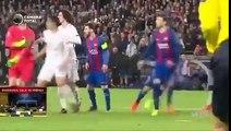 شاهد فرحة ميسي  بعد تسجيل هدف التأهل لبرشلونة في مرمى باريس سان جيرمان