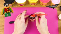 COMPILATION: The Lego Batman Movie Play Doh - Batman, Robin, Joker and Harley Quinn |