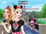 DISNEY PRINCESS ELSA & ANNA FROZEN SISTERS IN DISNEYLAND GAME - MAKEOVER GAMES FOR GIRLS