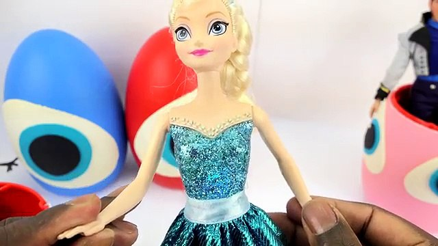 Real Elsa and Anna FROZEN PLAY DOH SURPRISE EGGS opening! Shopkins Toys