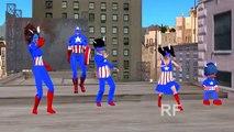SuperHero Rhymes   Captain America Cartoon Finger Family Rhymes   Kids Nursery Rhymes