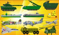 Military Vehicles for Kids   Army Navy Airforce Tanks Ships & Planes for Children