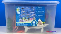 ANIMAL PLANET MEGA OCEAN TUB SHARKS DOLPHINS TURTLES SEAHORSE STARFISH OCTOPUS WHALE CRAB - UNBOXING-xw7