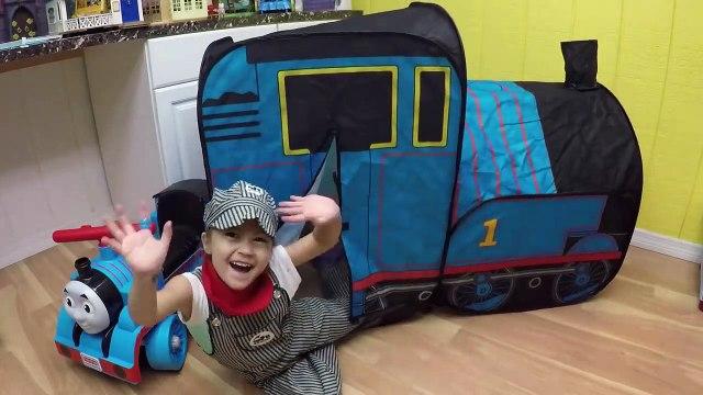 HUGE THOMAS AND FRIENDS SURPRISE TOYS TENT Egg Surprises Ride-On Train Set Toy Trains & Track Sets-HdS2q