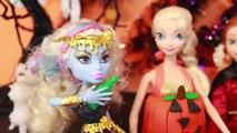 HALLOWEEN PRANK Barbie Frozen Monster High Doll Parody Play-Doh Halloween Costumes DIY KIDS Trick-iu