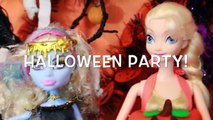 HALLOWEEN PRANK Barbie Frozen Monster High Doll Parody Play-Doh Halloween Costumes DIY KIDS Trick-iul9l4C2