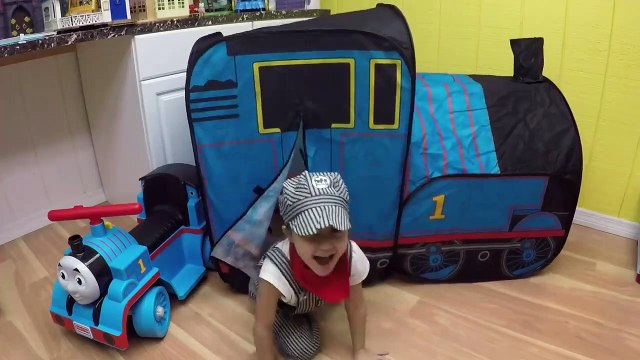 HUGE THOMAS AND FRIENDS SURPRISE TOYS TENT Egg Surprises Ride-On Train Set Toy Trains & Track Sets-HdS
