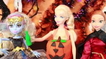 HALLOWEEN PRANK Barbie Frozen Monster High Doll Parody Play-Doh Halloween Costumes DIY KIDS Trick-iul9l4
