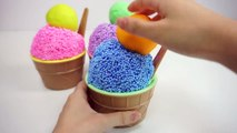 Learn Colors Clay Foam Ice Cream Cups Surprise Toys Minions Spiderman Hello Kitty Toys Story-ECFu8i