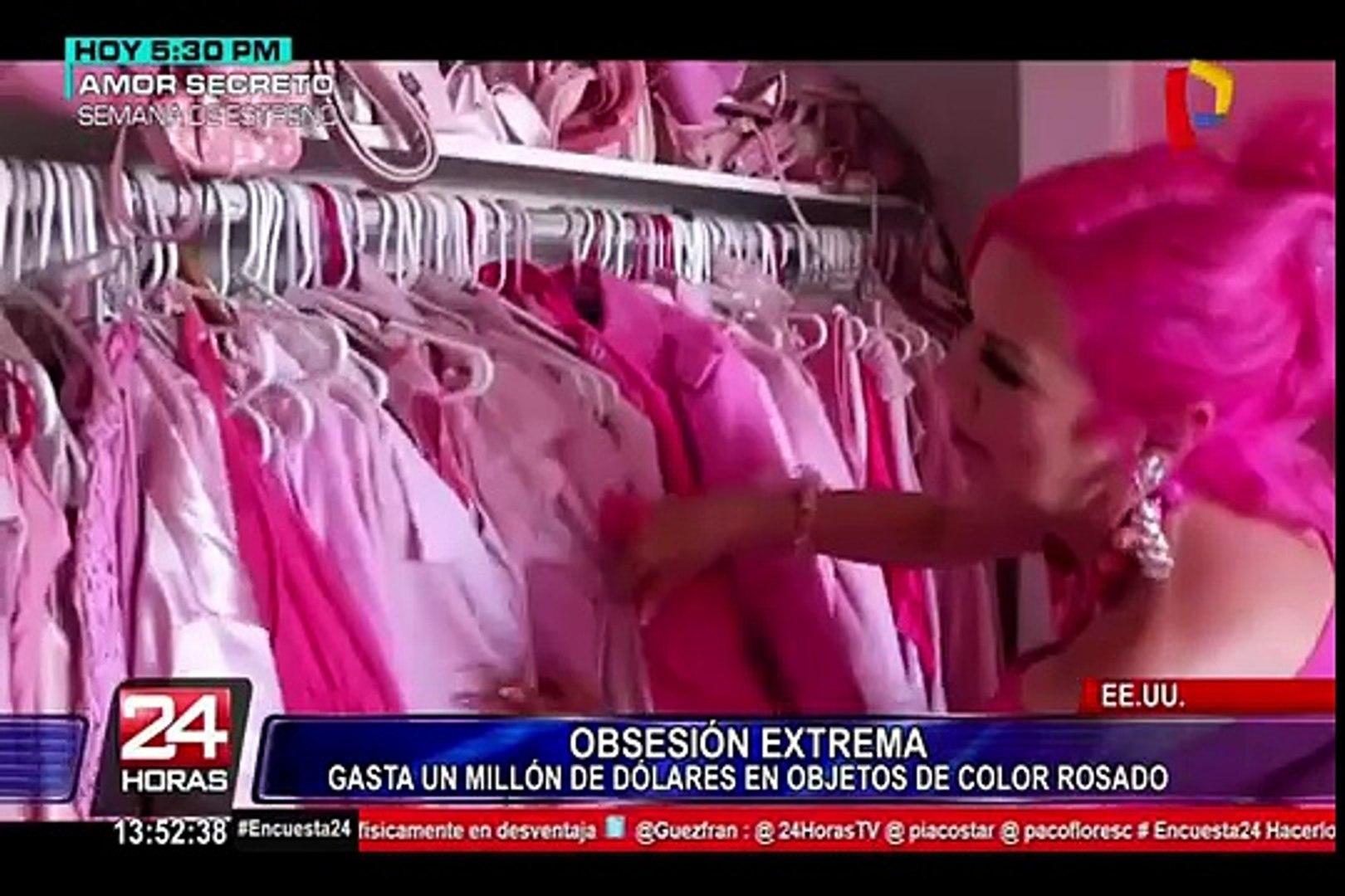 Insólito: mujer gasta fortuna para ser la persona más rosada del mundo