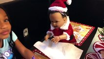 Bad Santa Attacks Bad Baby Transforms with Magic Wand Prank! Bad Baby Toy Freaks Mom Out-3L