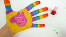 Пеппа свинья Дети и играть доч Игрушки сделать Радуга Покрасить замечательно с играть тесто