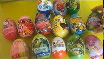 Сюрприз яйца распаковка Киндер сюрприз Дисней яйцо игрушка сюрприз Спанч Боб, Смурфики, Хелло Китти Тачки 2