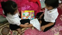 funny baby nita and minea just come back chinese school March 1, 2017 (2)