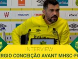 "SERGIO CONCEICAO: ""ON DOIT ETRE SOLIDE DEFENSIVEMENT"""