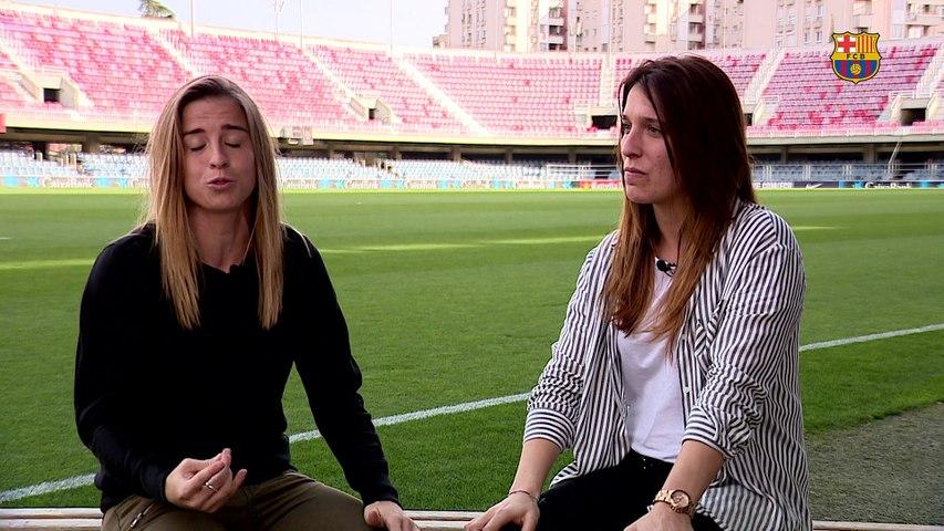 La conversación entre Bàrbara Latorre y Cristina Baudet antes del derbi entre el FC Barcelona y el Espanyol